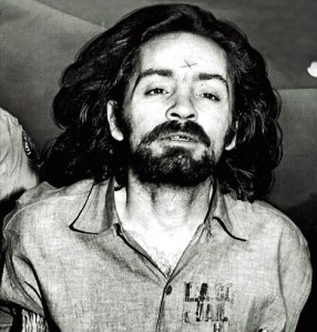 Charles Manson after his arrest for orchestrating the murders of actress Sharon Tate and others.